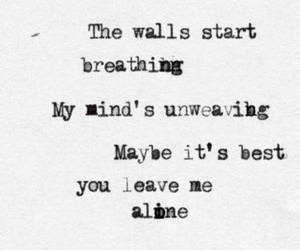 it ends tonight, alone, and Lyrics image