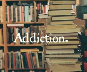 addiction, reading, and books image