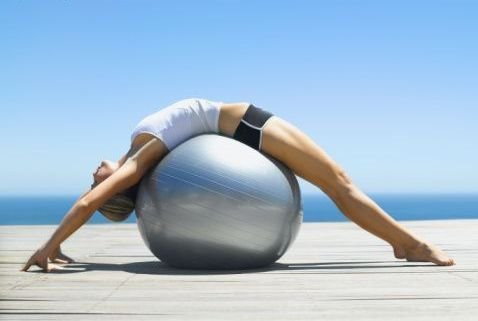 ball, fitness, and exercise image