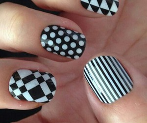black, pattern, and nails image