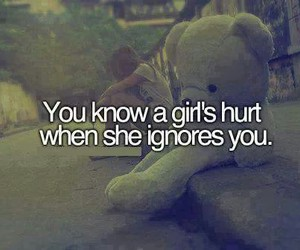 hurt, girl, and ignore image