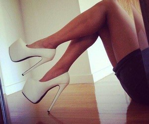 high heels, legs, and shoes image