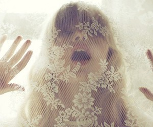girl, lace, and white image