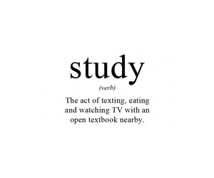 study, texting, and true image