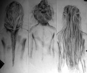 art, hairstyle, and pretty image