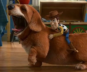 dachshund and toy story image