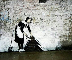 BANKSY, maid, and art image