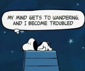 snoopy, peanuts, and mind image