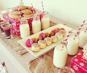food, sweet, and milk image