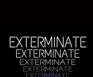 Dalek, doctor who, and exterminate image