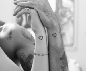 love, tattoo, and heart image