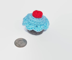 blue, cupcake, and dessert image