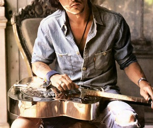 johnny depp, guitar, and sexy image
