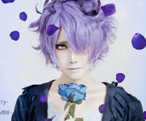 blue, rose, and cosplay image