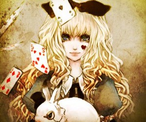 alice, alice in wonderland, and anime image