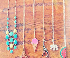 eiffel tower, ice cream, and necklaces image