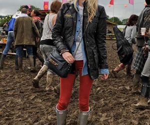 red trousers image