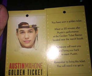 golden ticket and austin mahone image