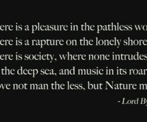 Lord Byron, quote, and into the wild image