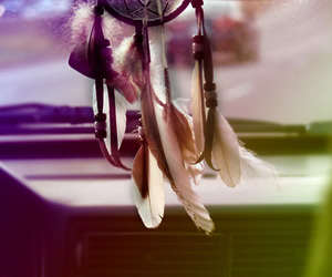 dreamcatcher, feather, and dream catcher image