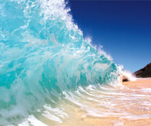 beach, waves, and blue image