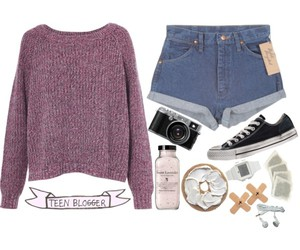 Polyvore, shorts, and vintage image