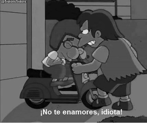 idiota, frases, and simpsons image