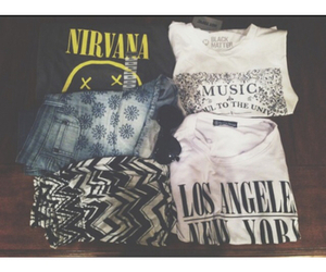 outfit, fashion, and nirvana image