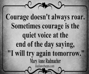 courage, quote, and quotes image