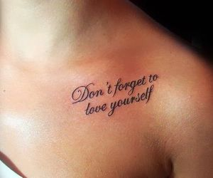 clavicle, little tattoos, and quotes image