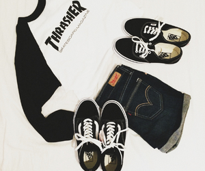 clothes, skate, and trasher image