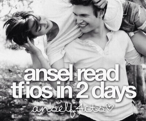 the fault in our stars, ansel elgort, and i read it in 3 hours image