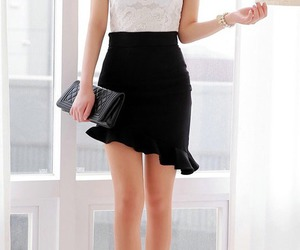 asymmetrical, beautiful, and clothes image