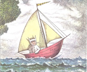 sail boat and where the wild things are image