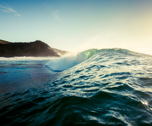sea, waves, and nature image