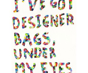 bags, designer, and eyes image