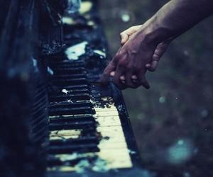 piano, music, and grunge image