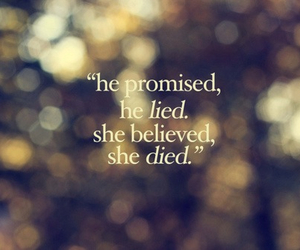 promise, she, and text image