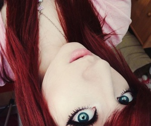 girl, red hair, and eyes image