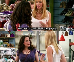 2 broke girls, funny, and cry image
