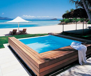 beach, luxury, and pool image