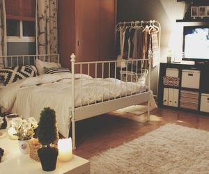 bed, beautiful, and bedroom image