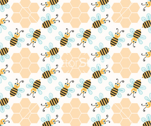 bee, honeycomb, and pattern image