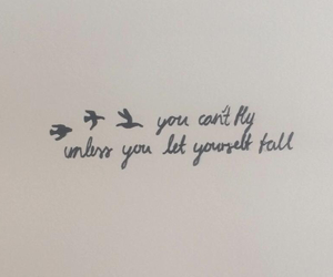 birds, ink, and quote image