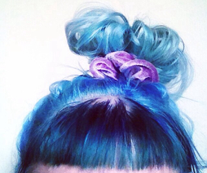 blue hair, color hair, and colorful hair image