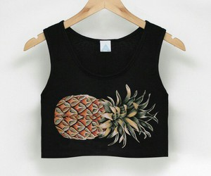 fashion, pineapple, and black image