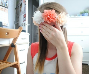 flower crown, flowers, and tumblr image