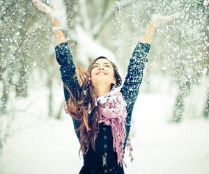 funny, snow, and girl image