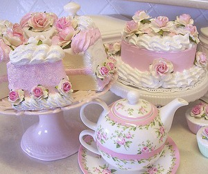 cake, pink, and cute image