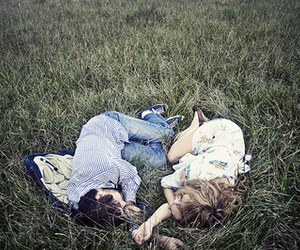 couple, love, and grass image